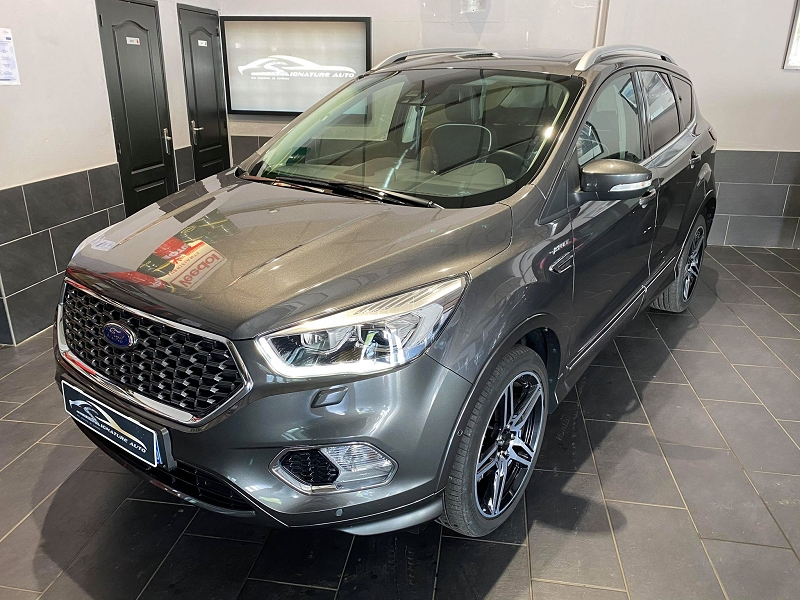 Ford KUGA 2.0 TDCI 180CH STOP&START VIGNALE 4X4 POWERSHIFT EURO6.2 Diesel GRIS FONCE Occasion à vendre